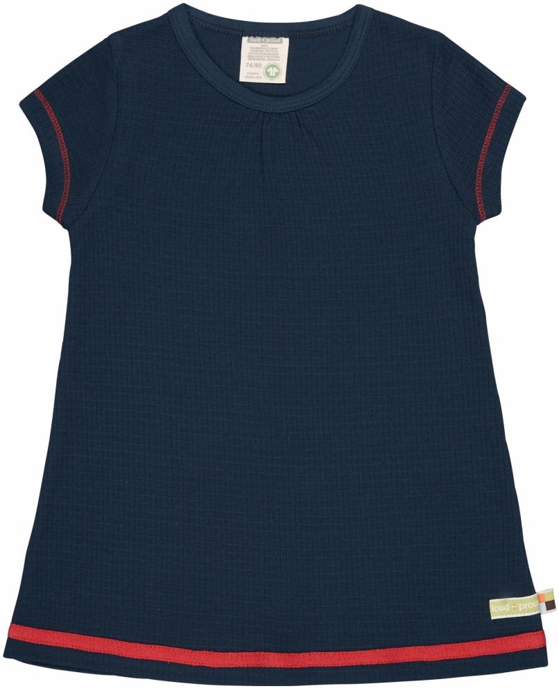Kleid Waffel Ultramarin 74/80