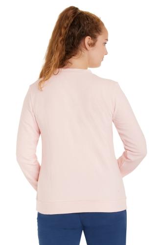 Damen Sweat Strukturmuster Rosé