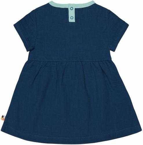 Kleid aus Musselin Ultramarin