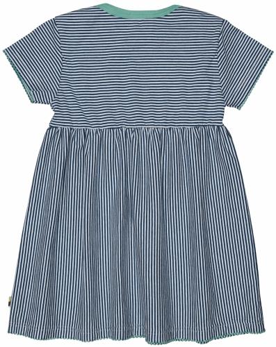 Kleid Streifen Ultramarin