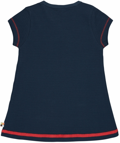 Kleid Waffel Ultramarin