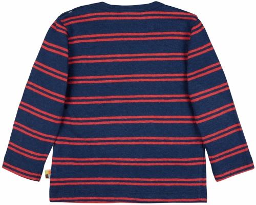 Shirt Streifen mit Leinen Ultramarin
