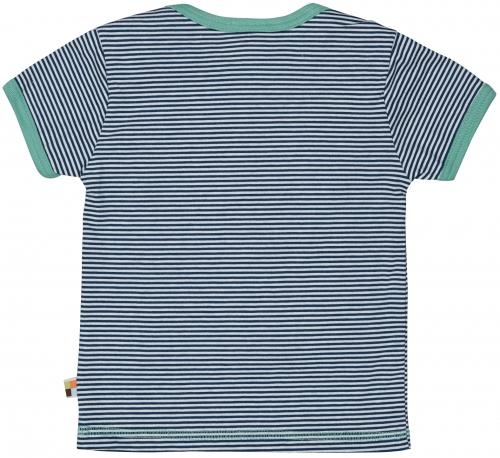 T-Shirt Ringel m. Druck Ultramarin