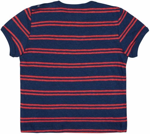 T-Shirt Streifen mit Leinen Ultramarin